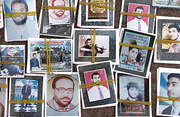 It is almost an iconic art; In Gaza you can buy photos of the fallen. They hang on the walls in houses and are venerated as modern day saints.